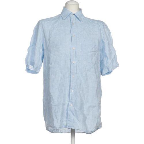 Olymp Damen Bluse blau Leinen INT M