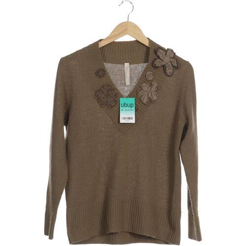 Oui Damen Pullover grün Synthetik Wolle Angorawolle DE 42
