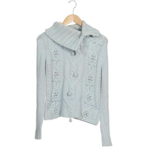 Oui Damen Pullover blau Synthetik Wolle Angorawolle DE 36