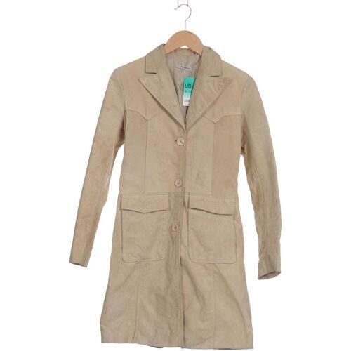 PLEASE Damen Mantel beige Leder INT XS
