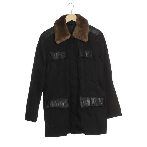 Prada Damen Mantel schwarz Leder Synthetik Viskose INT L