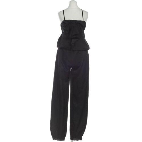 RINASCIMENTO Damen Jumpsuit/Overall schwarz Baumwolle Seide INT S