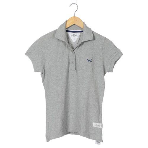 SANSIBAR Damen Poloshirt grau Baumwolle INT S