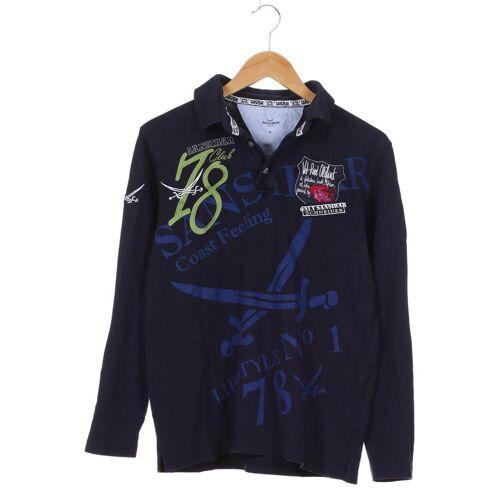 SANSIBAR Damen Poloshirt blau Baumwolle INT M