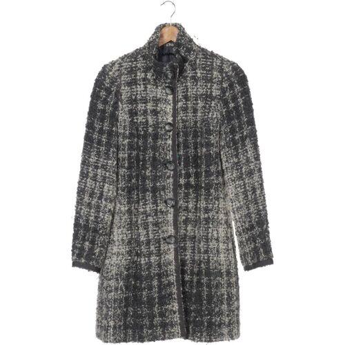 SISLEY Damen Mantel grau Alpaka Mohair Wolle DE 42