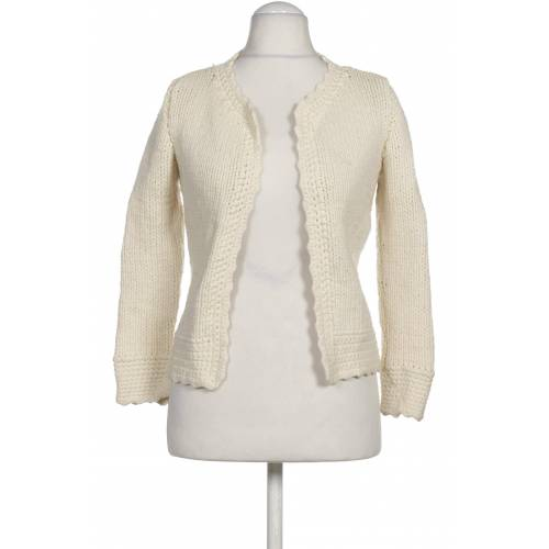 Schumacher Damen Strickjacke weiß Wolle INT S