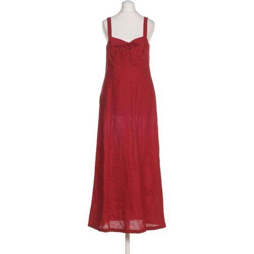 Simclan Damen Kleid rot Leinen DE 36
