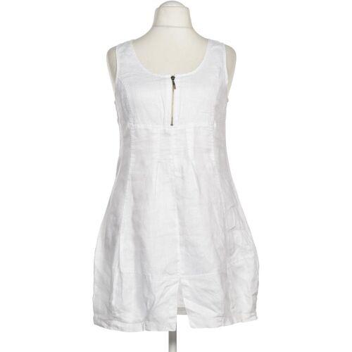 Simclan Damen Kleid weiß Leinen DE 42