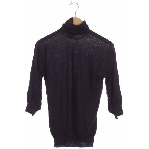 Stefanel Damen Pullover lila Wolle INT S