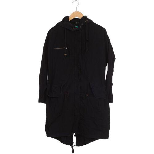 Urban Outfitters Damen Mantel schwarz Baumwolle INT XS