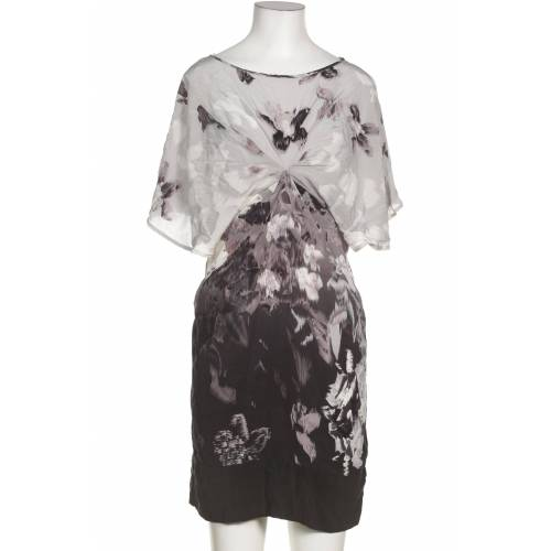 WAREHOUSE Damen Kleid grau Seide UK 10