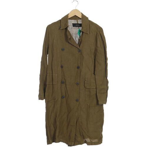 ZARA Damen Mantel grün Leinen INT S