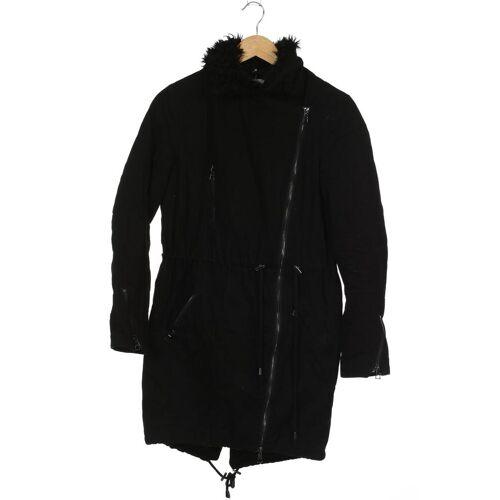 Zalando Essentials Damen Mantel schwarz Baumwolle Synthetik Viskose INT XS