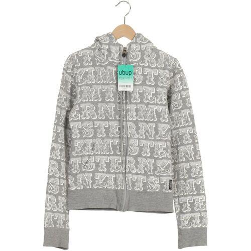 Zimtstern Damen Kapuzenpullover grau Baumwolle INT S