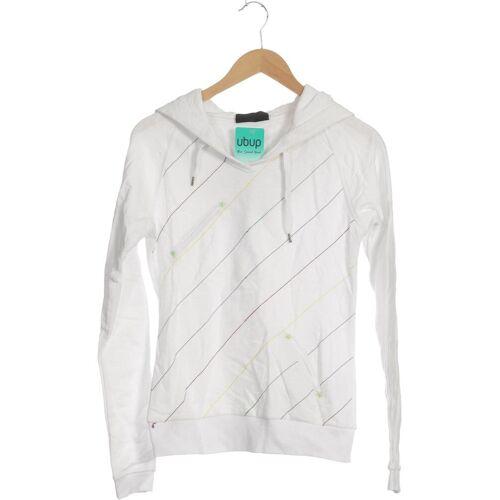 Zimtstern Damen Kapuzenpullover weiß Baumwolle INT S