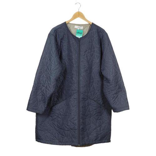Zizzi Damen Mantel blau Synthetik INT XL