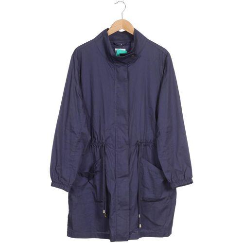 Zizzi Damen Mantel blau Baumwolle INT M