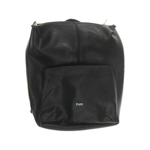 Zwei Damen Rucksack schwarz Kunstleder