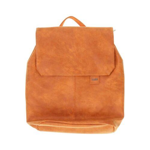 Zwei Damen Rucksack orange Kunstleder