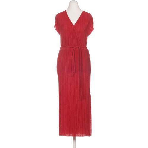 bershka Damen Kleid rot Viskose INT M