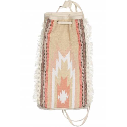 bershka Damen Rucksack beige Baumwolle