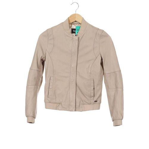 tigha Damen Jacke beige Leder INT XS