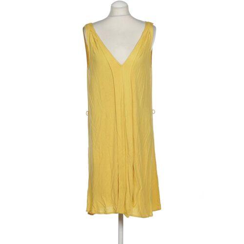 MANGO Damen Kleid INT S Maße Gesamtlänge: 94cm gelb