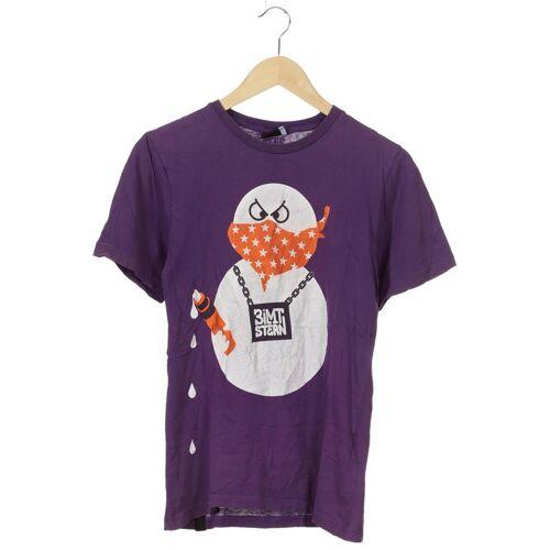 Zimtstern Herren T-Shirt lila Baumwolle INT L