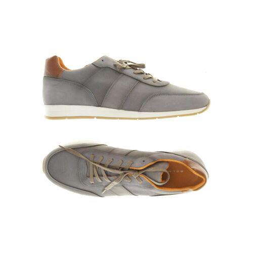 BELMONDO Herren Sneakers grau Leder DE 42