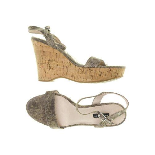 BELMONDO Damen Sandale grau Leder DE 40