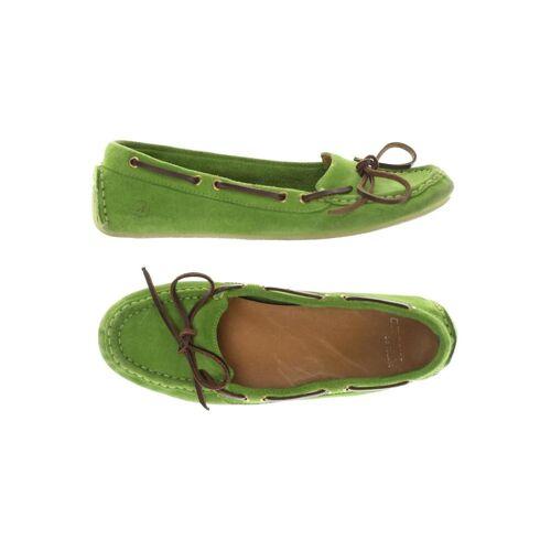 Bronx Damen Ballerinas grün Leder DE 36