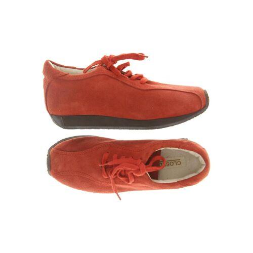Closed Damen Sneakers rot Leder DE 37