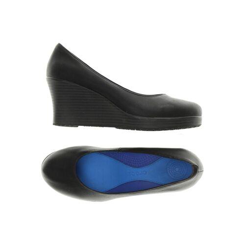 Crocs Damen Pumps schwarz Leder US 7