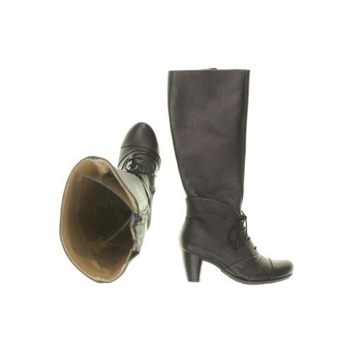 DKODE Damen Stiefel schwarz Leder DE 35