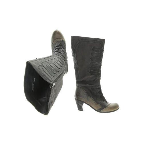 DKODE Damen Stiefel schwarz Leder DE 40