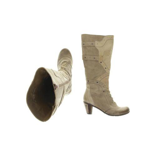 DKODE Damen Stiefel beige Leder DE 38
