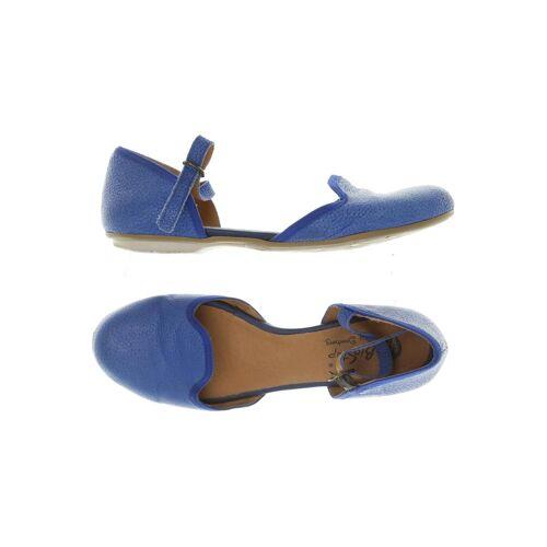 Deerberg Damen Ballerinas blau kein Etikett DE 39