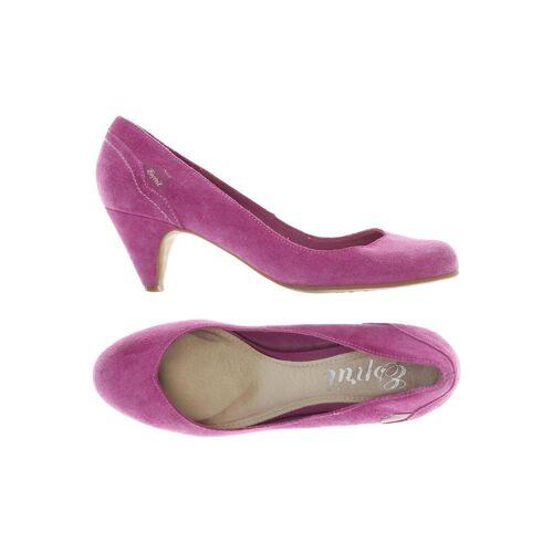 Esprit Damen Pumps pink Leder DE 40