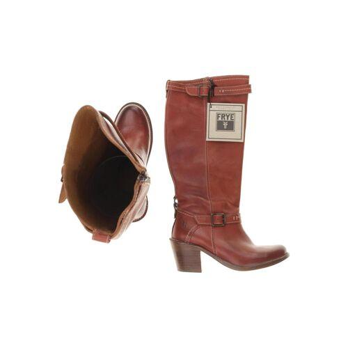 Frye Damen Stiefel rot Leder DE 39
