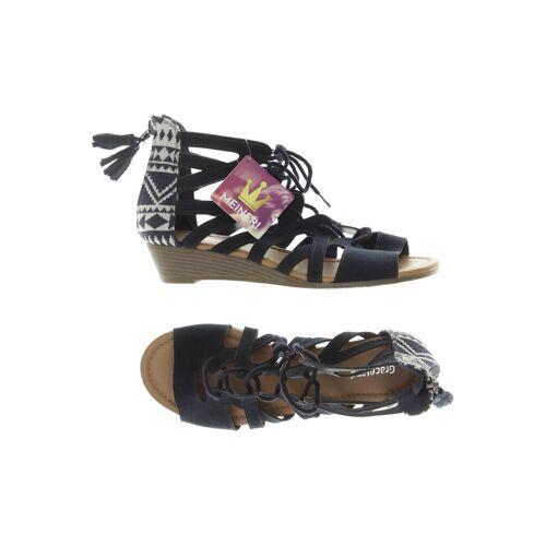 Graceland Damen Sandale blau kein Etikett DE 36