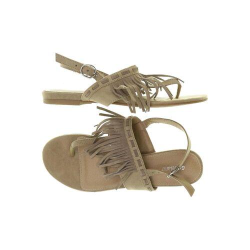Graceland Damen Sandale beige Leder DE 38