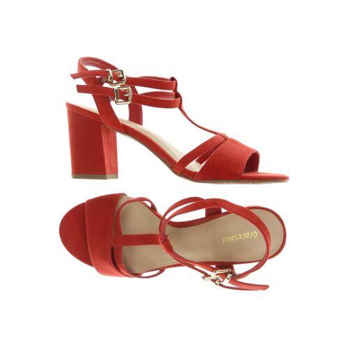 Graceland Damen Sandale rot kein Etikett DE 37