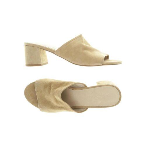 Hallhuber Damen Sandale beige Leder DE 38