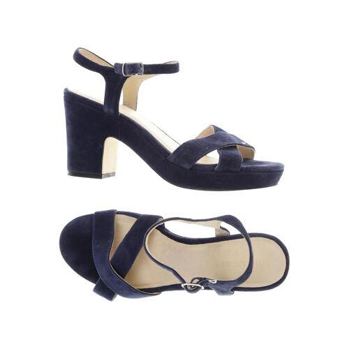 Hallhuber Damen Sandale blau Leder DE 38