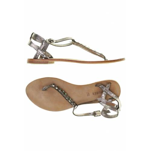 Hallhuber Damen Sandale grau Leder DE 37