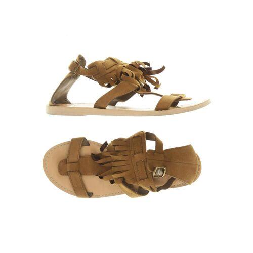 Hollister Damen Sandale braun Baumwolle UK 7