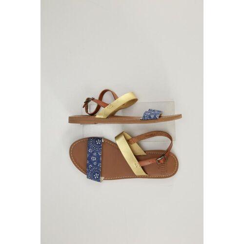 Hollister Damen Sandale blau kein Etikett US 6