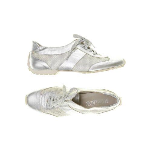 Madeleine Damen Sneakers silber Leder DE 38