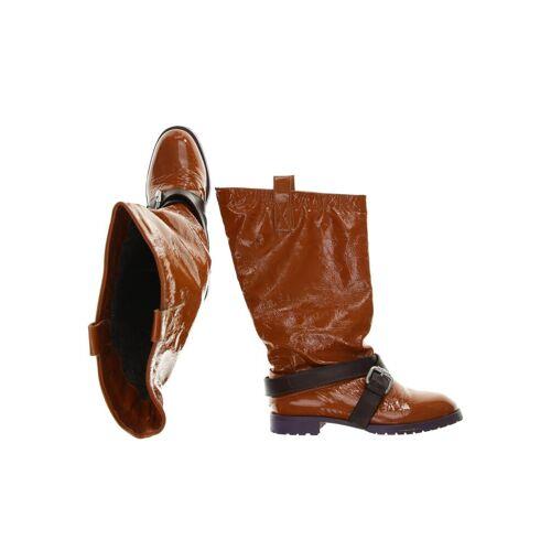 NAVYBOOT Damen Stiefel orange kein Etikett DE 38