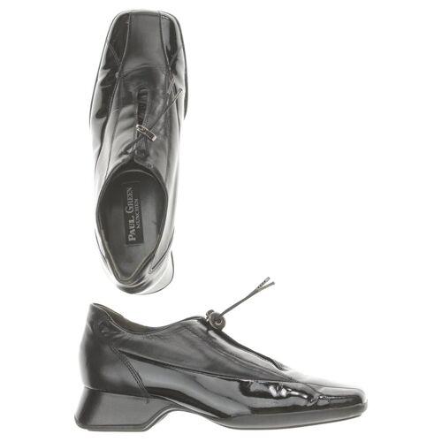 Paul Green Damen Halbschuh schwarz Leder Lackleder UK 4